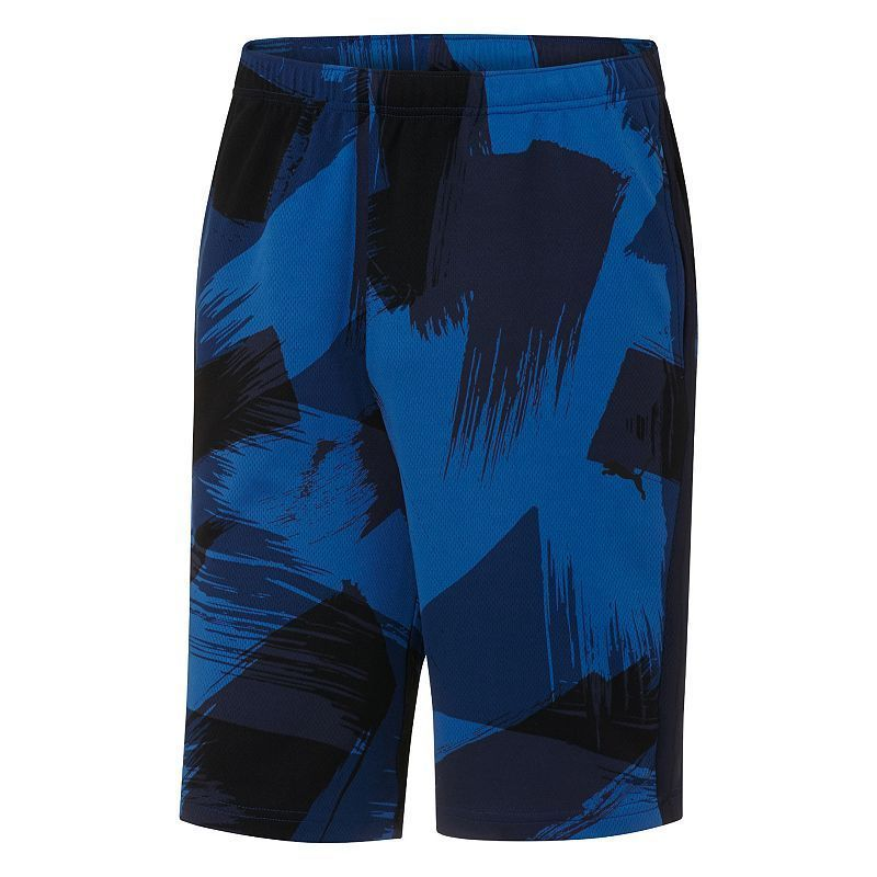 Puma Mens Shorts Black blue Mesh XL NWT Basketball Sport