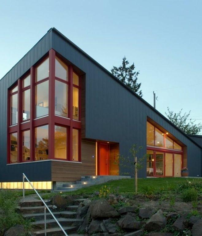 Modern House Design Phd 2015015: ANGULAR MULTI-GENERATIONAL HOME IN WASHINGTON At The Lower