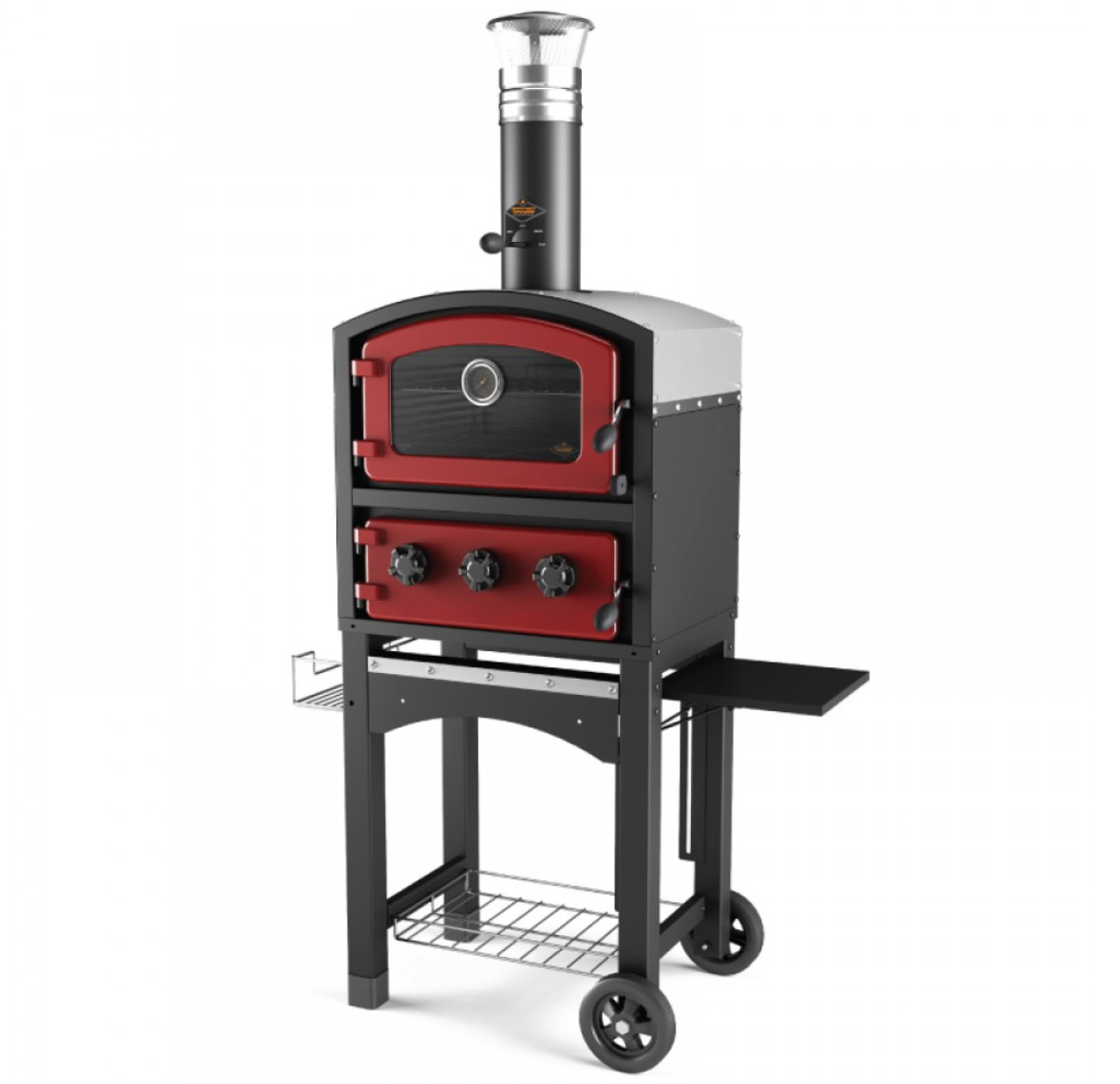 Fornetto outdoor wood fired pizza oven red wood fired pizza oven