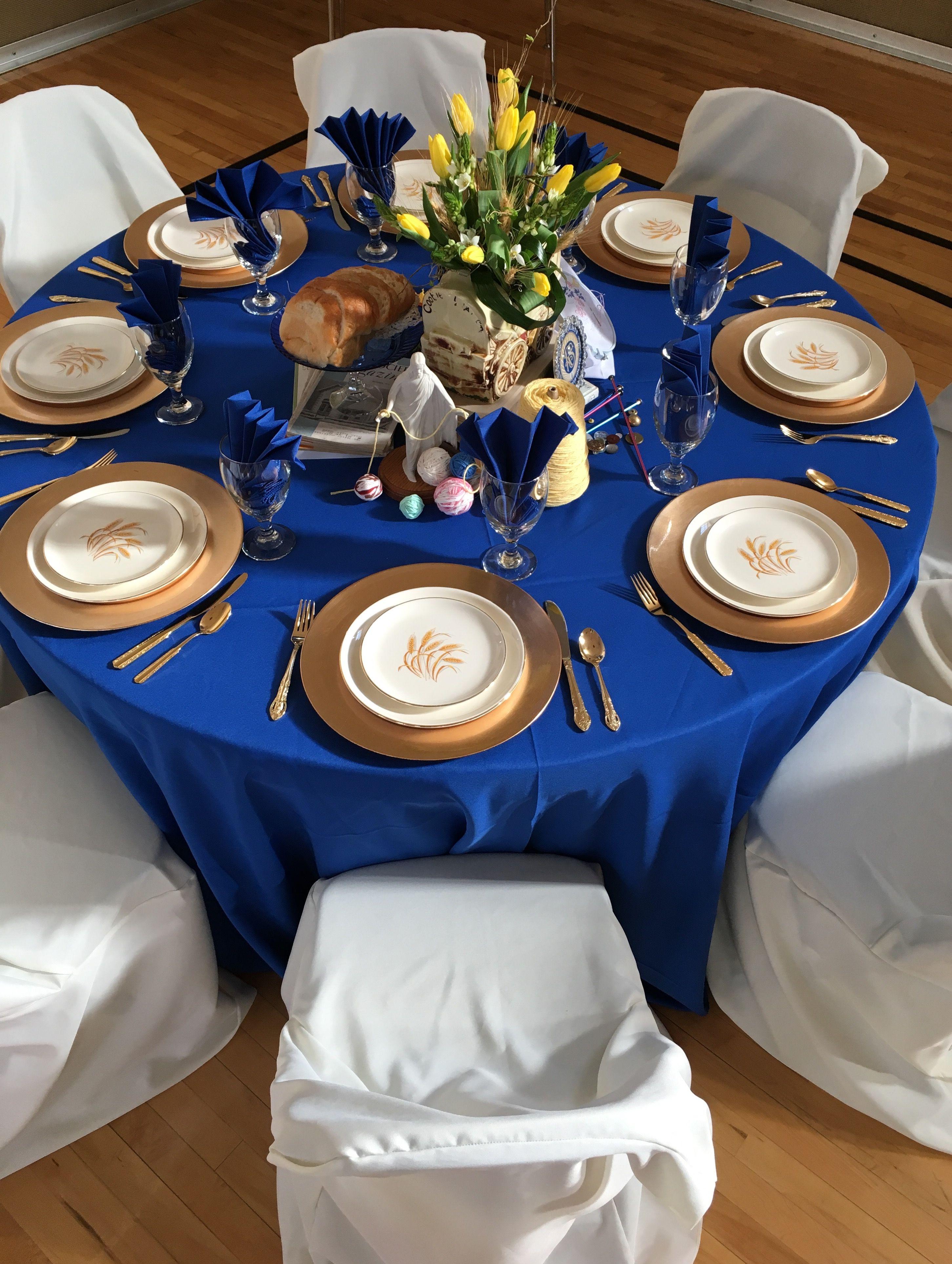 Relief Society March Birthday Celebration Royal Blue Wedding