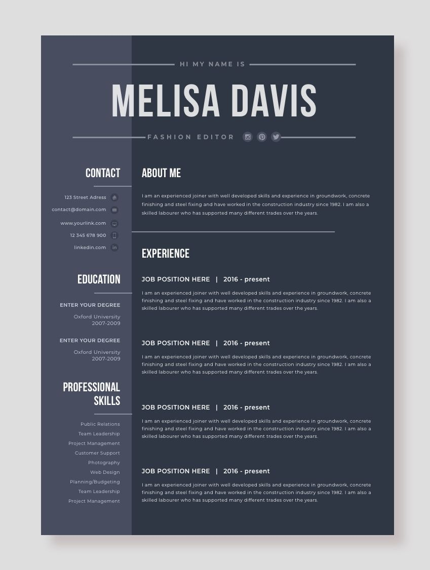 Word Resume Template 2007 Creative And Professional Resume Template In Microsoft Word Cv .