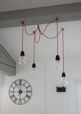 Fils électriques tissu et accessoires de décoration du luminaire ...