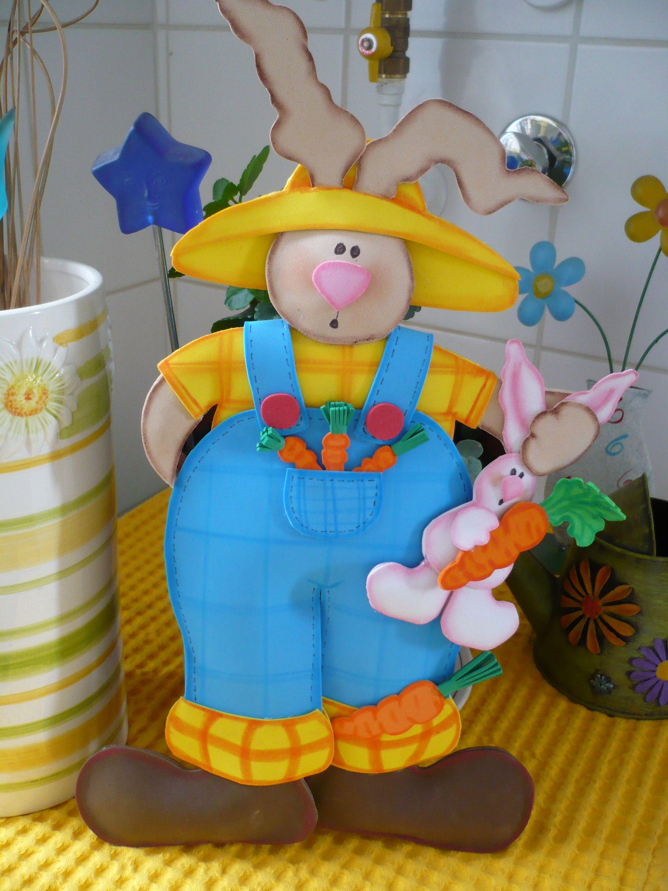 Conejo Agricultor , 3D