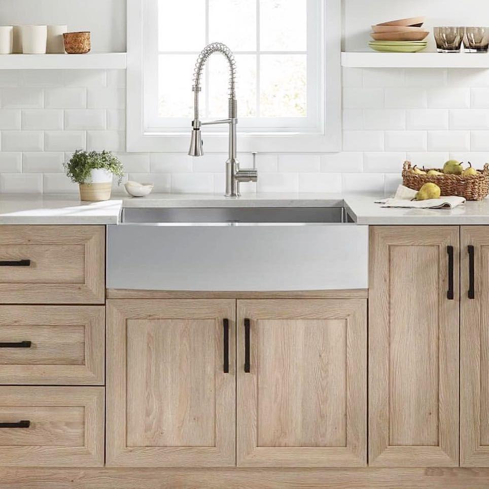 Black Bar Pulls On Wood Cabinets Light Wood Kitchens Light Wood Cabinets Kitchen Cabinets Light wooden kitchen cabinets