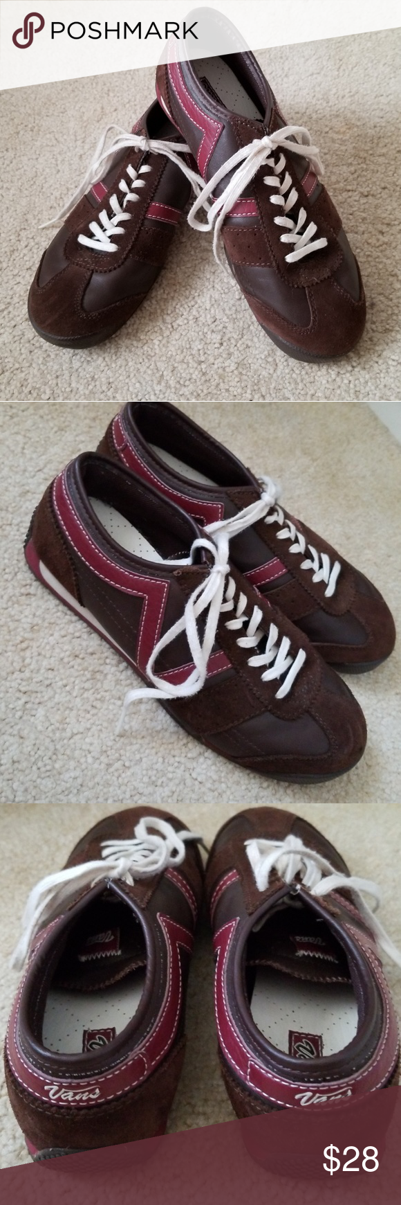 Vans Dabney Brown Suede Shoes Sneakers