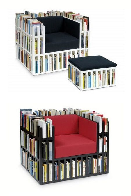 Coolest Multipurpose Chairs Books Shelf Board And Book Shelves - Bookchair combined with bookshelf