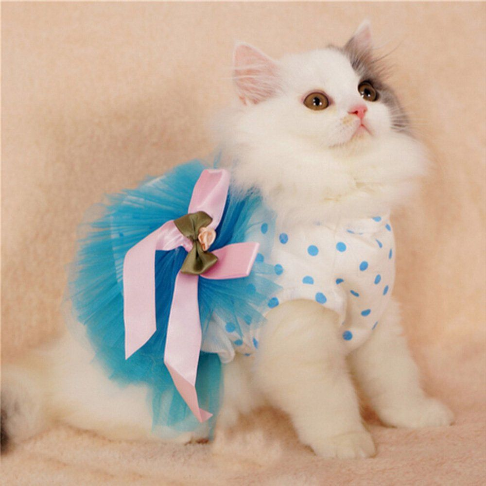 Ipeta Floral Princess Cat Party Dress Small Dog Tutu Ball Gown