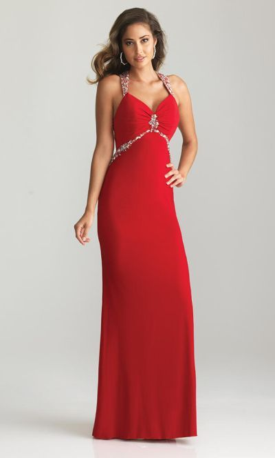 2837c0fde86 Alternate view of the Night Moves 6614 Open Back Jersey Gown image