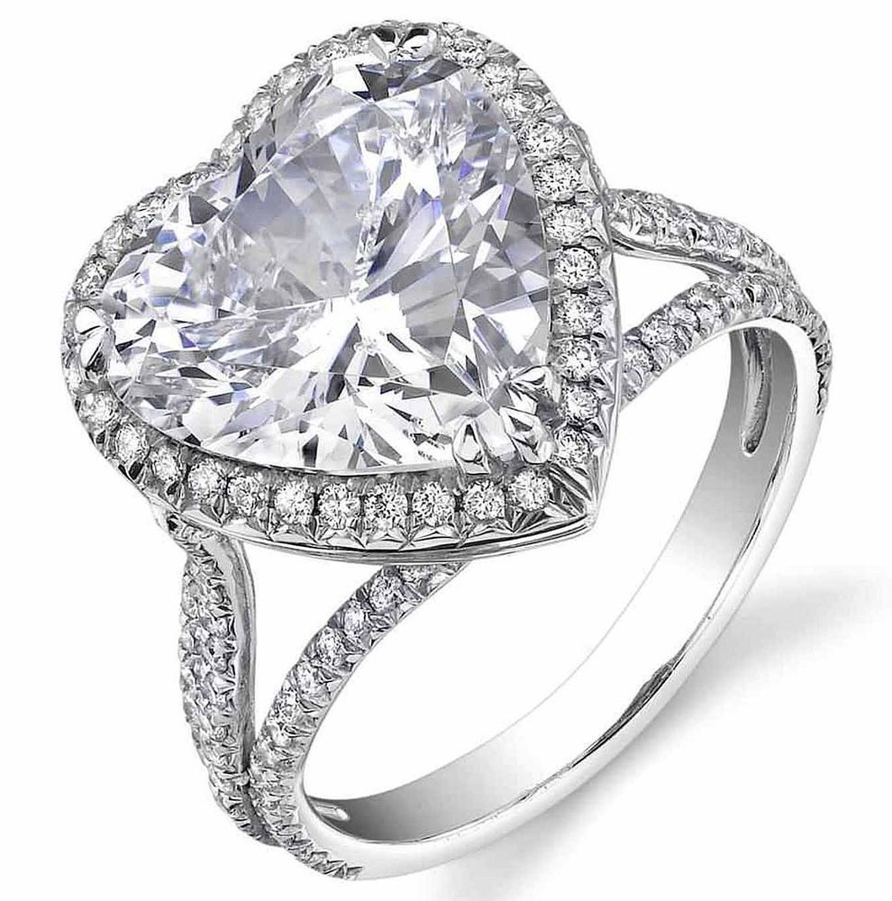 GIA Certified 1.50Ct. Heart Shaped Halo Diamond Engagement