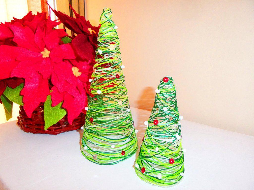 Mini rbol de navidad de hilo f cil y barato mini - Arbol navidad barato ...