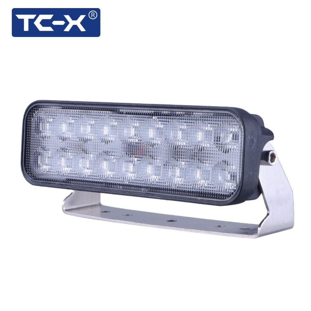Tc x 7 inch 18 x 3w led light bar ultra flood lights for truck tc x 7 inch 18 x 3w led light bar ultra flood lights for truck aloadofball Image collections