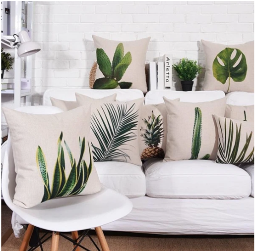 Greenery Pillow Cover Collection Cushion Cover Designs Cushion Design Decorative Cushion Covers