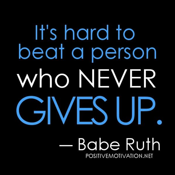 It's hard to beat a person who never gives up http://www ...