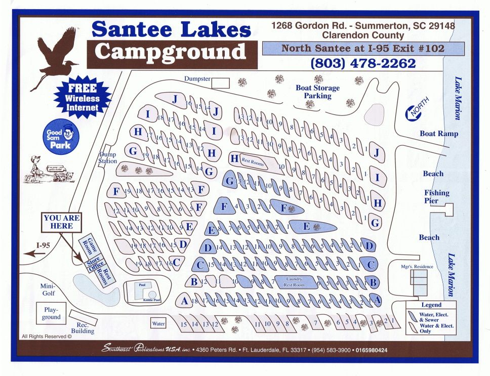 Santee Lakes 1268 Gordon Rd Summerton, SC 29148 803 478-2262 ...