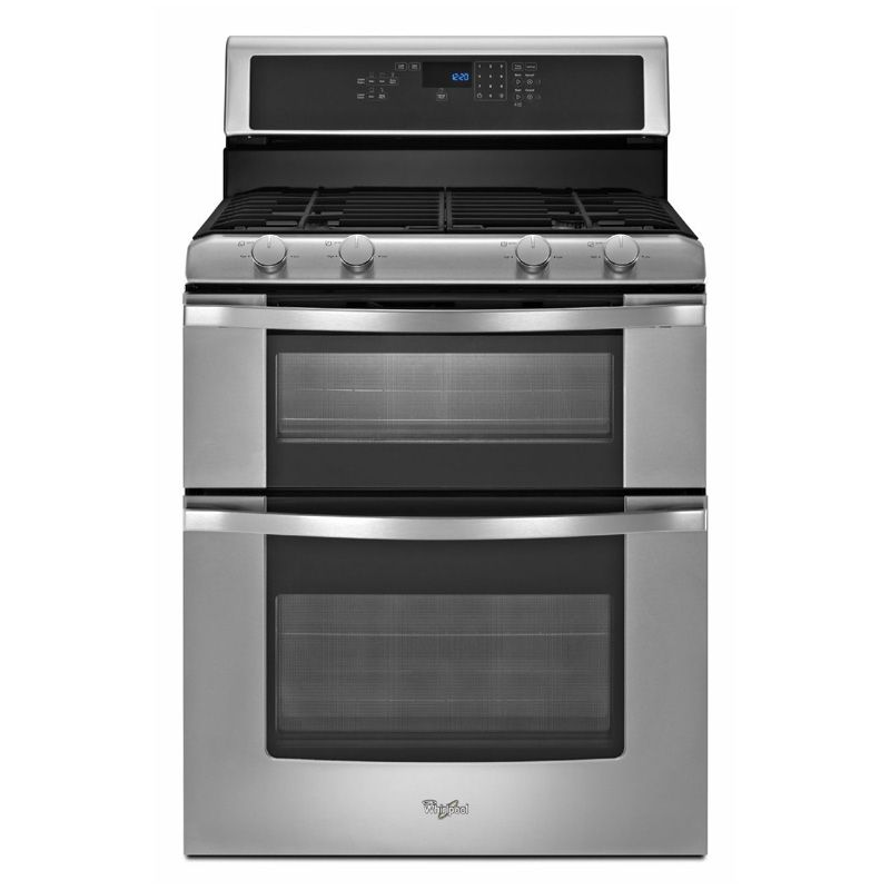 Whirlpool 30 Free Standing Gas Range Stainless Steel Pcrichard Com Wgg555s0bs Double Oven Gas Double Oven Gas Range Double Oven