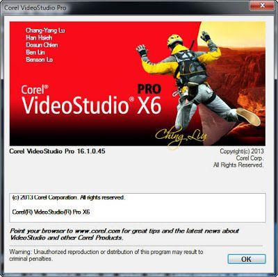 keygen corel videostudio pro x6