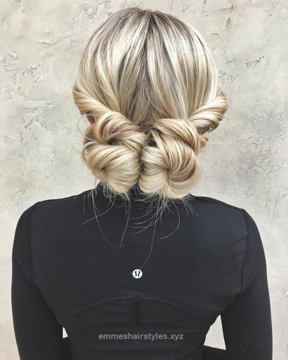 Neat We Are Loving This Casual Cute Twisted Back Bun Style Double Your Fun With Bun Hairstyles For Long Hair Long Hair Styles Cute Hairstyles For Medium Hair