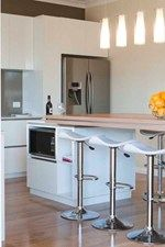 Love this island table! Carly and Leighton House Reveal - Photos - House Rules - Shows - TV3