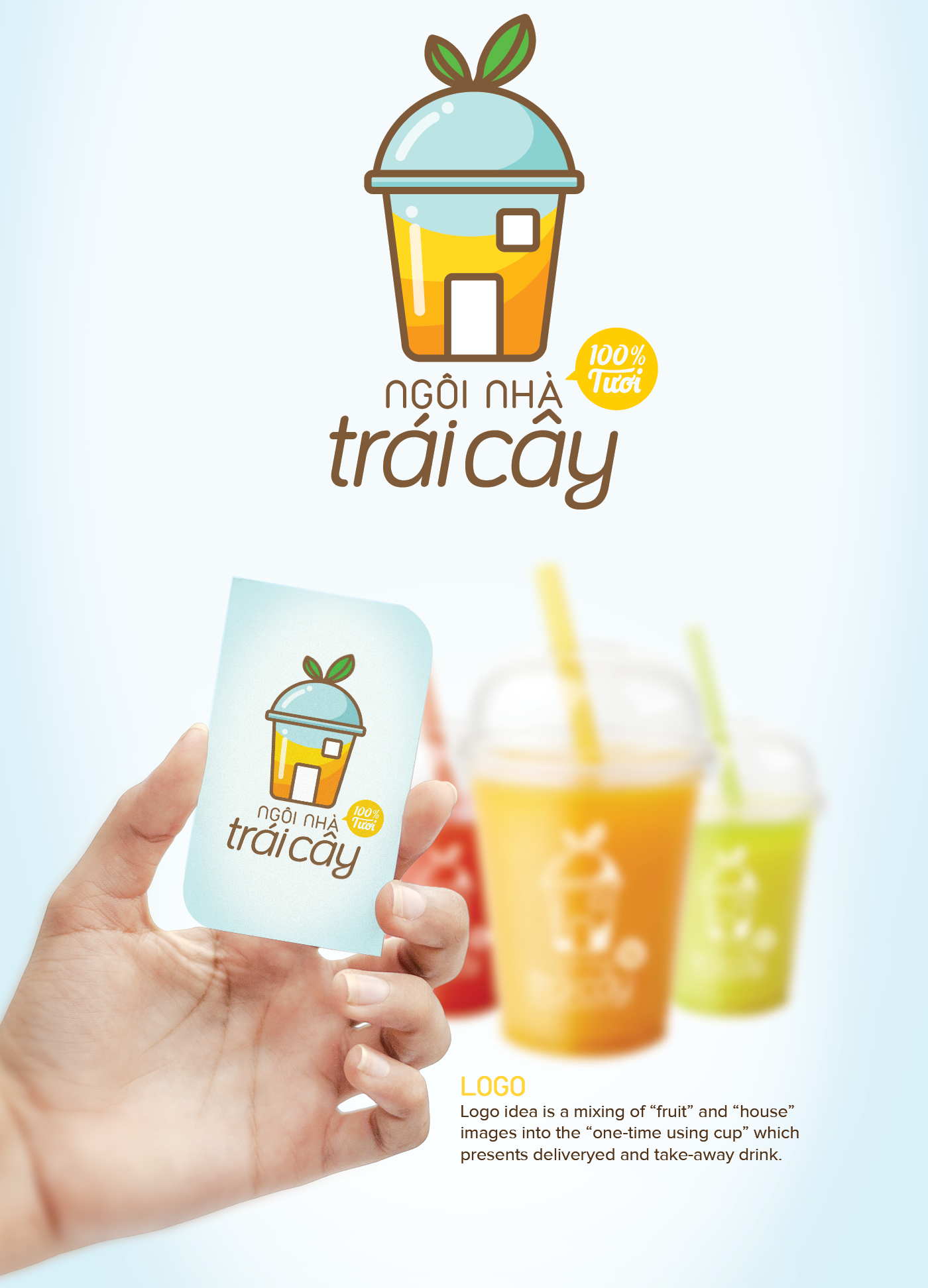 Glass juice cups design - Logo And Responsive Website By Ngoc Thuy Do For Ng I Nh Tr I C Y The Fruit House A Smoothies And Juice Delivery Service In Hcmc Vietnam