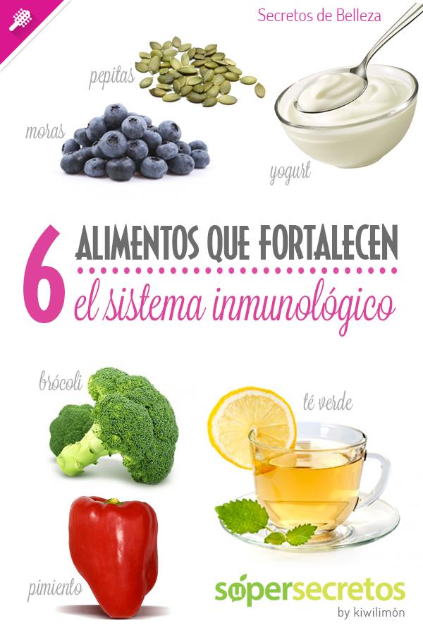 6 Alimentos Que Fortalecen Al Sistema Inmunológico Alimentos Saludables Beneficios De Alimentos Nutrición
