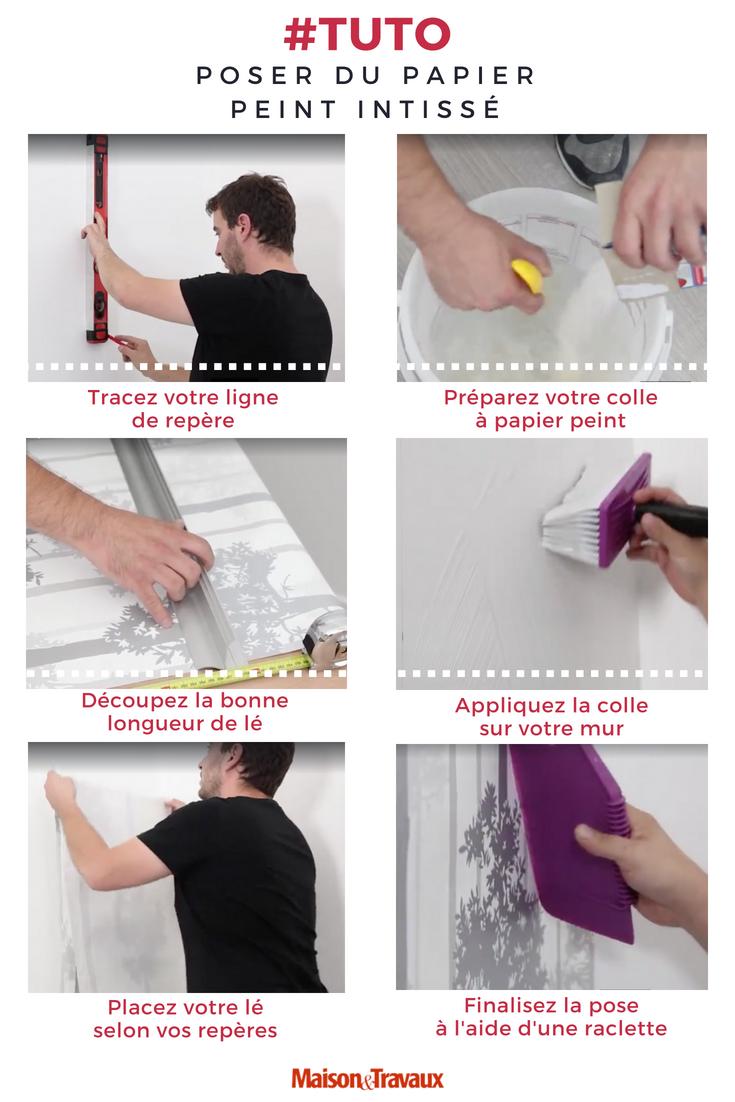 Comment Poser Du Papier Peint Intisse Poser Du Papier Peint Papier Peint Papier Peint Intisse