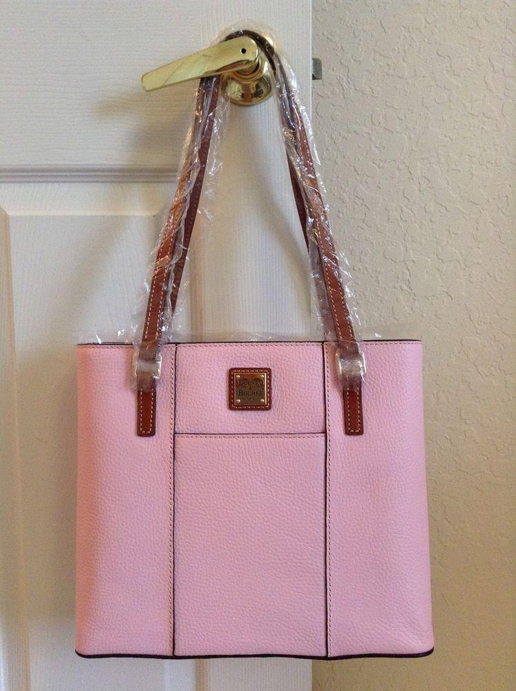 e7a36889b912 Dooney Bourke Small Lexington Shopper Tote Baby Pink Pebble Grain Leather  R342