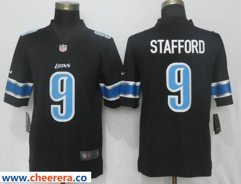 138099e13 Nike Lions 9 Matthew Stafford Black Vapor Untouchable Limited Player Jersey