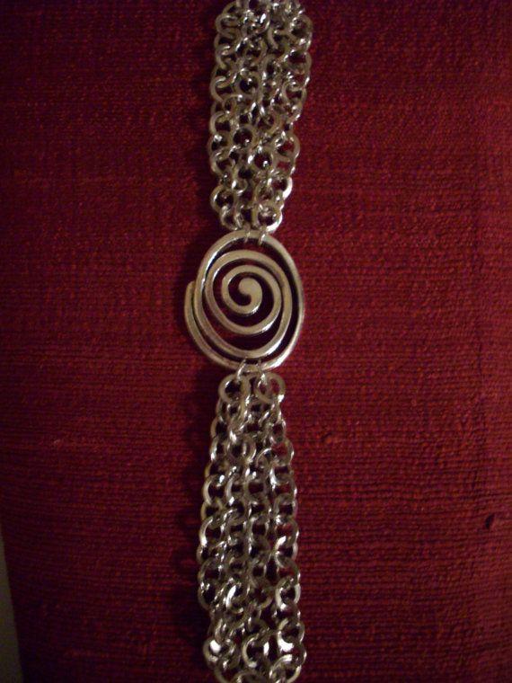 Soldered Spiral as a bracelet focal