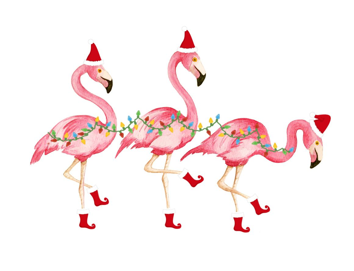 Shorely Chic Flamingo Christmas Flamingo Art Flamingo