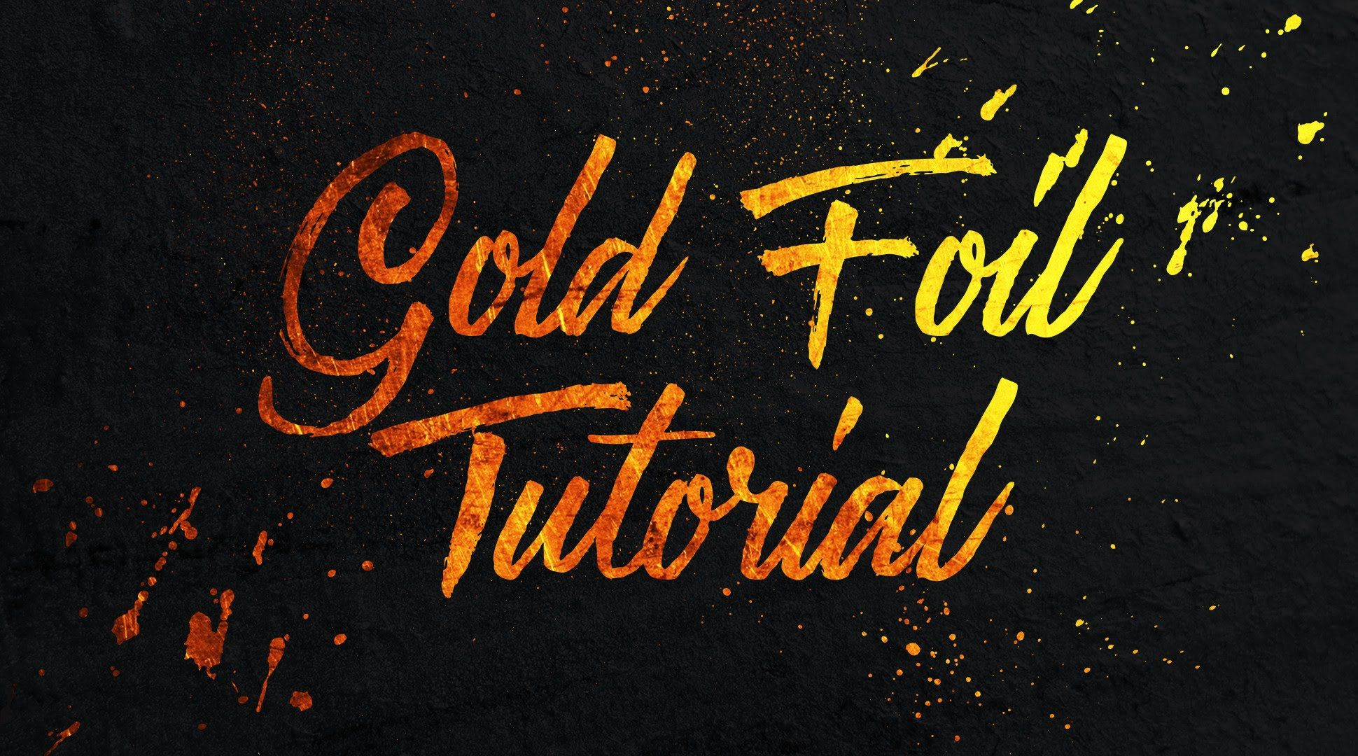 A quick tutorial on how to add a gold foil texture to text and a quick tutorial on how to add a gold foil texture to text and graphics in calligraphyphotoshoptexts baditri Image collections