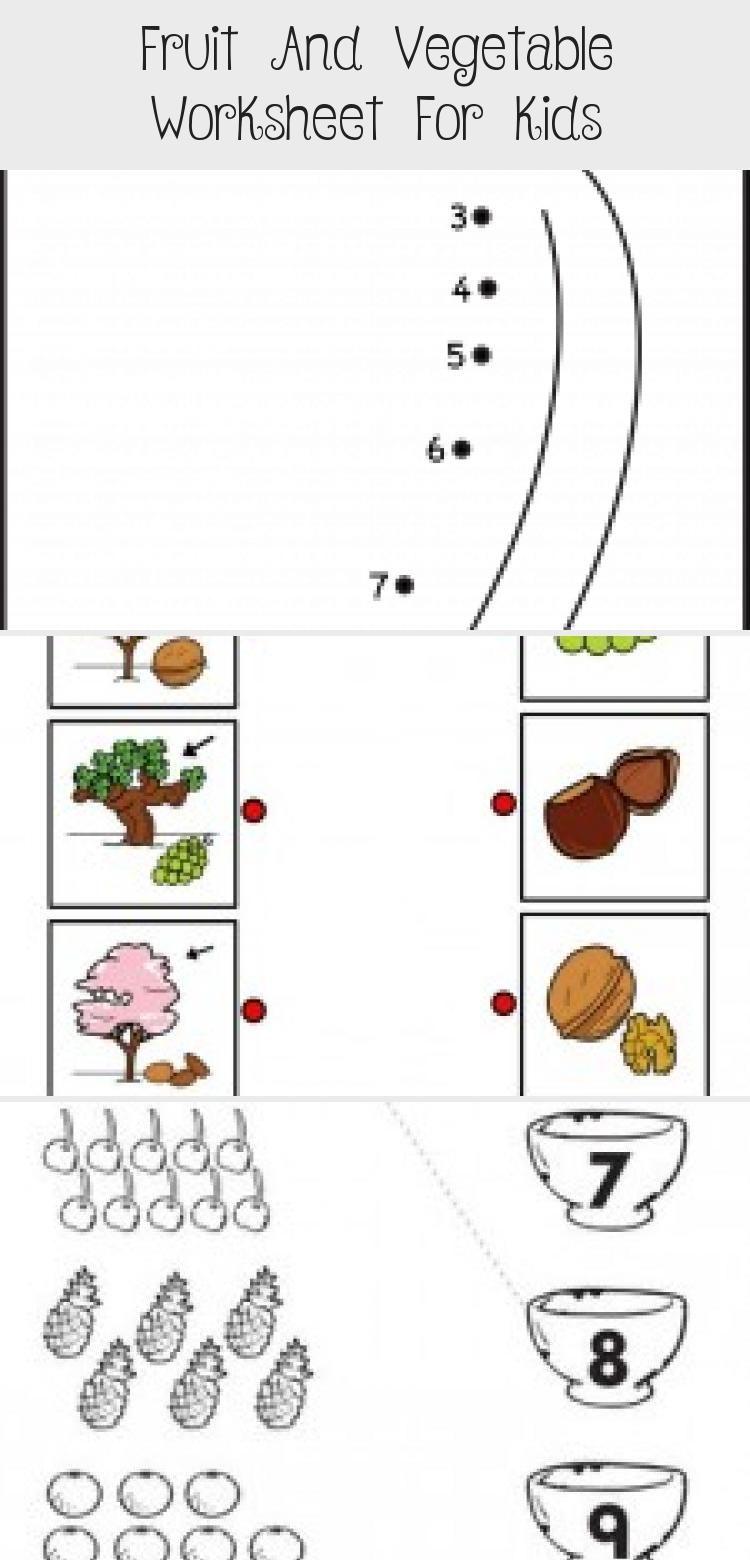 Fruit And Vegetable Worksheet For Kids Crafts And Worksheets For Preschool Toddler And Kindergarten Toysworksheetforkids Toyswor