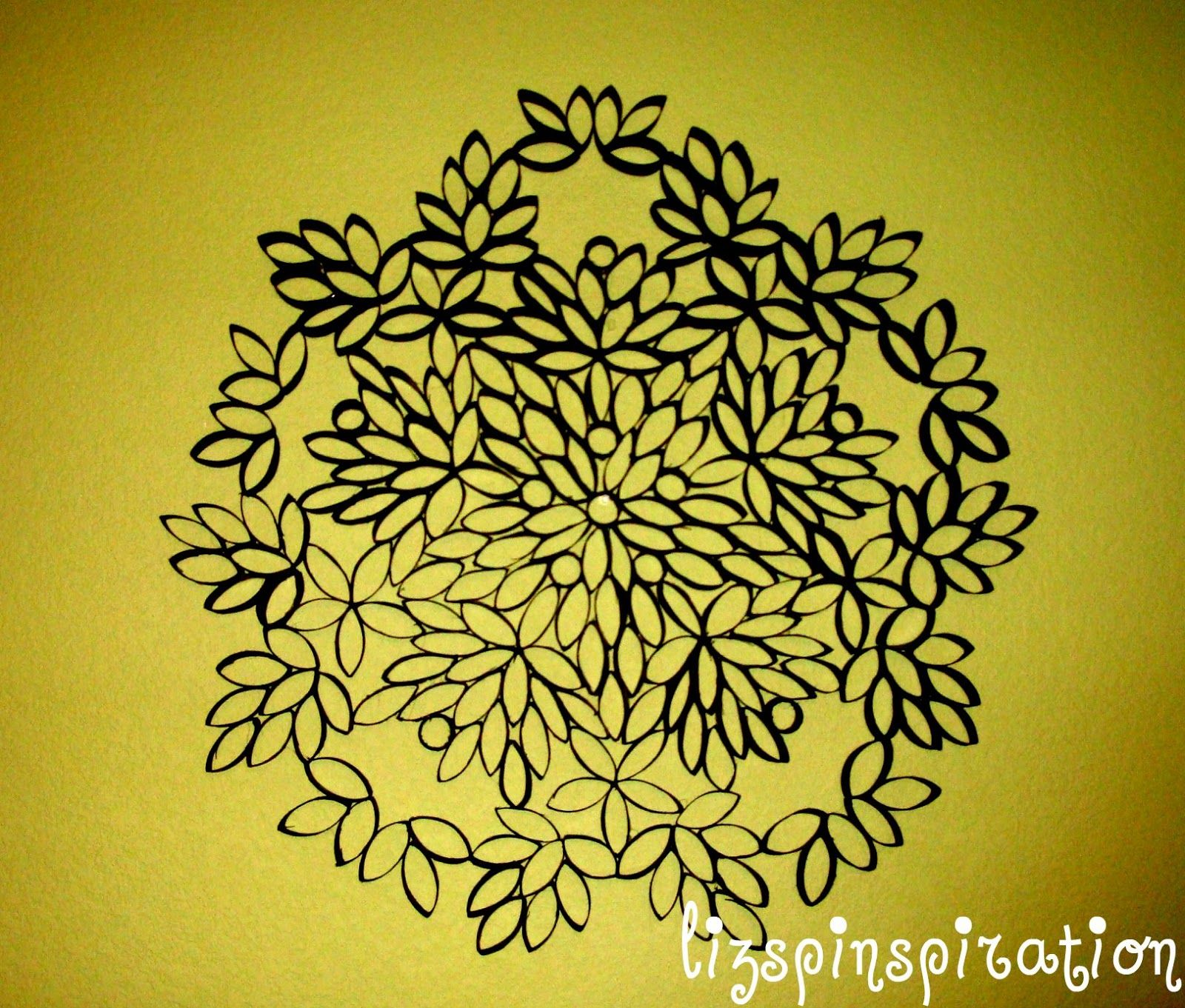 Wall art made from upcycled toilet paper rolls | pinned it & did it ...