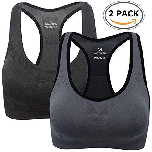 High Impact Sports Bra RacerBack Wireless Comfortable Cool Dry Comfy XS//S//M//L//XL