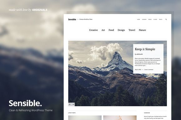 Sensible WP Theme - Simply for WordPress @creativework247 ...