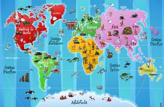 Ilustracao Mapa Mundi Pesquisa Google Mapa Mundi Infantil
