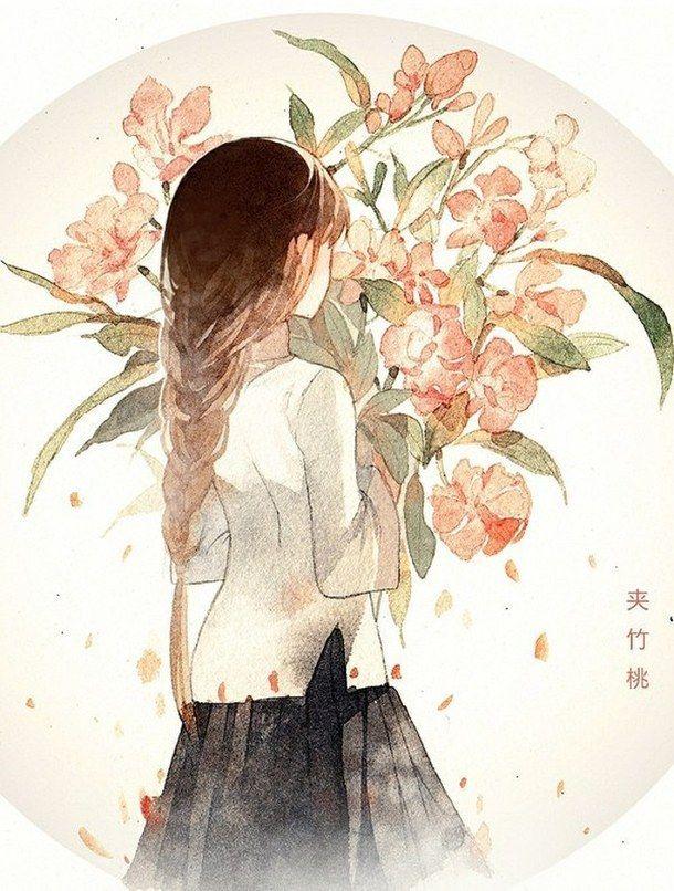 Flowers anime and anime girl image