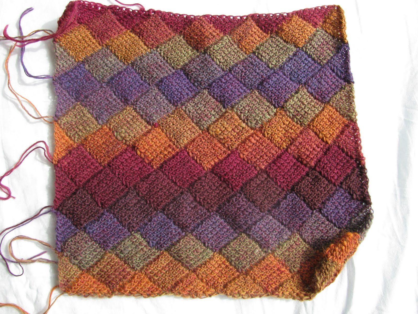 Tunisian Entrelac using sock yarn. Gorgeous! The Kenneth St Boudoir ...