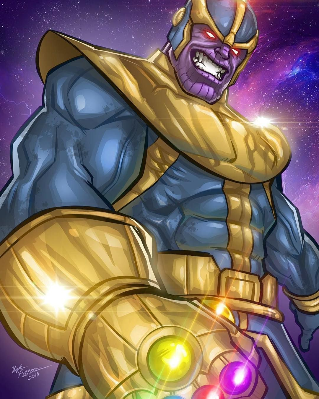 Throwback Thursday To This Classic Thanos The Mad Titan I Did About Two Years Ago I Really Want To Do A New Thanos Fan Art Piece In Vingadores Marvel Vilas