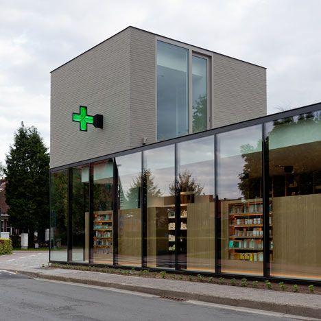 Pharmacie M par le cabinet Caan Architecten à Laethem-Saint-Martin ...