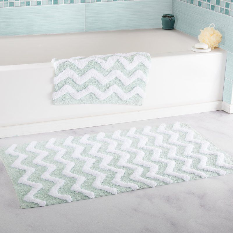 Update Your Bathroom Décor With The Chevron Egyptian Quality - Quality bathroom rugs for bathroom decorating ideas
