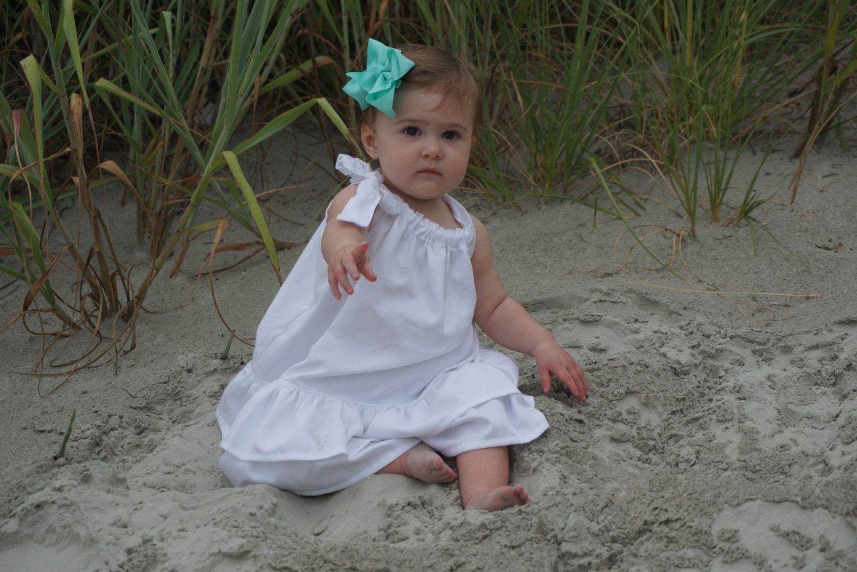 Girl White Beach Dress White Cotton Dress Black Cream Etsy Beach White Dress White Cotton Dress Beach Dress [ 1002 x 1500 Pixel ]
