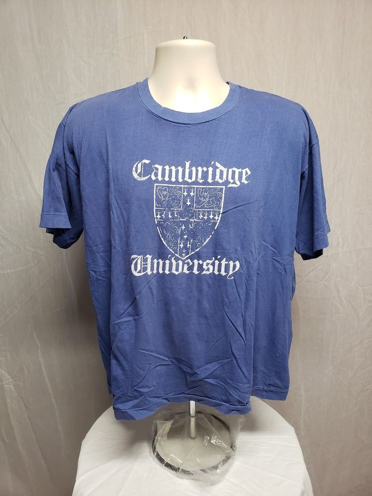 Cambridge University Women s Blue XL T-Shirt  FadedNeckTag  d14eb21c0