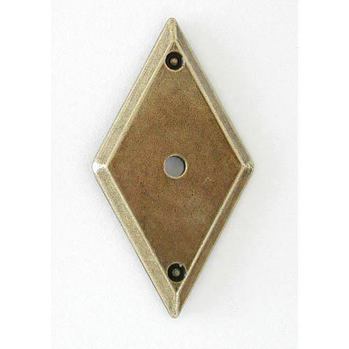 Antique Brass Diamond Backplate Hi Line Backplates Cabinet Hardware U0026 Knobs  Kitchen