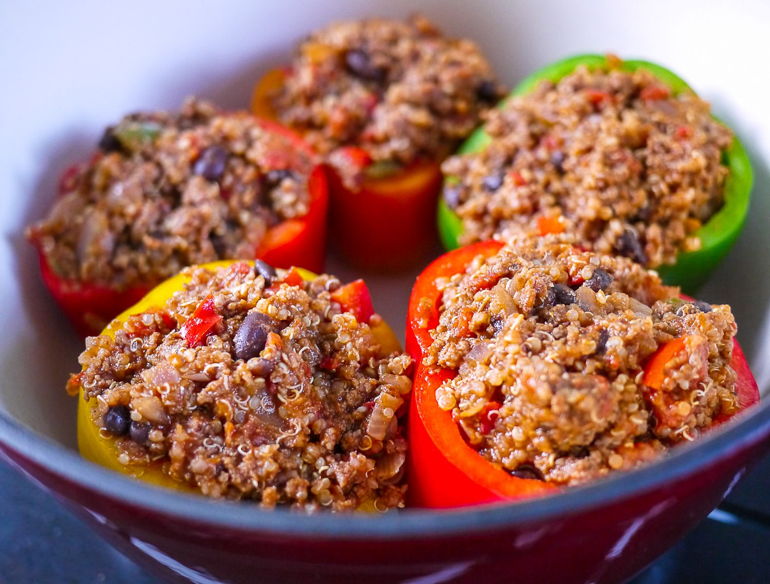 Barbells And Bellinis Southwestern Stuffed Peppers Recipes Stuffed Peppers Clean Eating Recipes