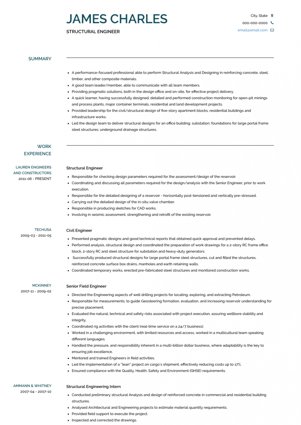 Pin Di Resume Example