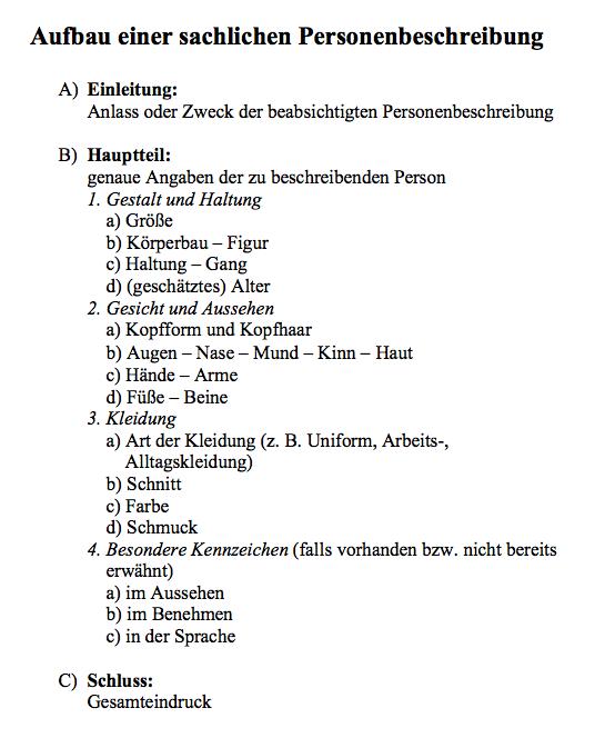 Personenbeschreibung Raid Rush Personenbeschreibung Personenbeschreibung Grundschule Lernen Tipps Schule