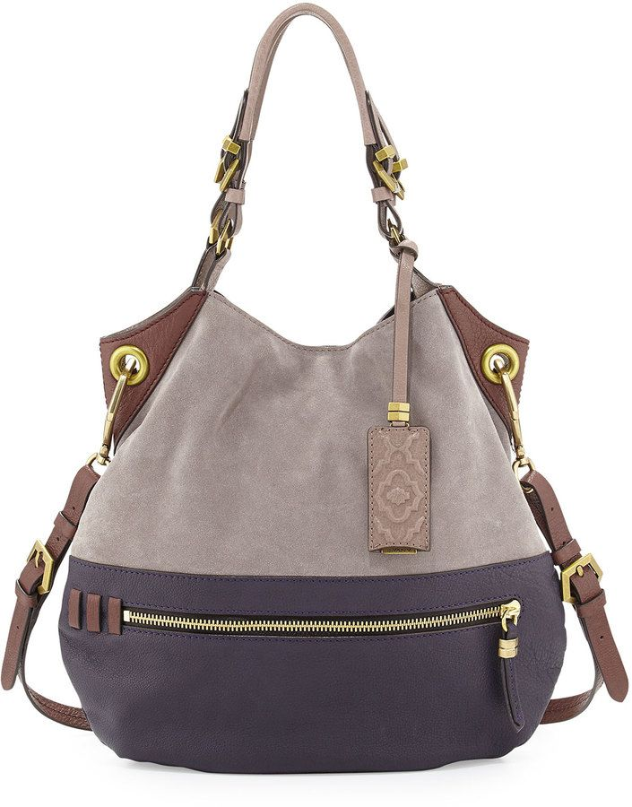 600b960677bcb6 Oryany Sydney Suede Tote Bag, Dove Multi on shopstyle.com | Carry ...