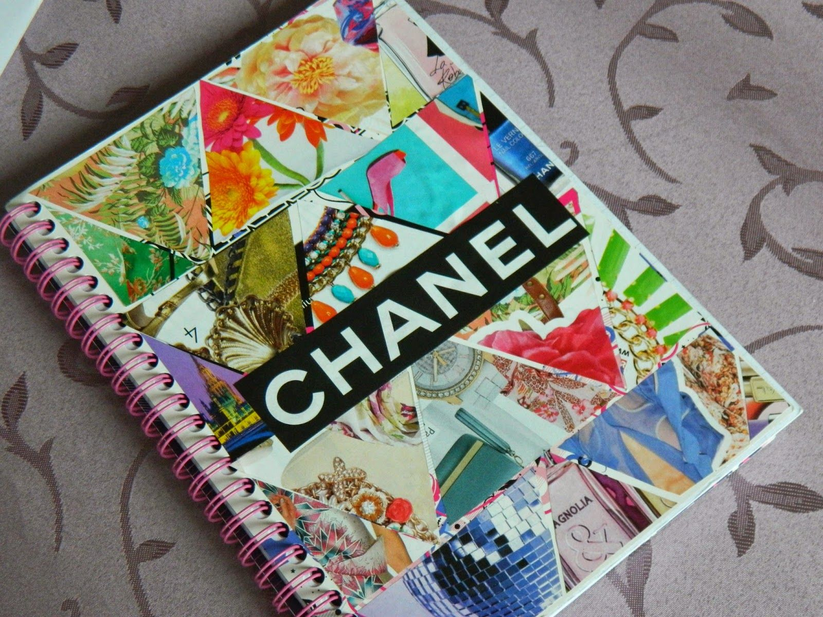 @: Modpodge pictures on the cover | ^^^ Journals: creating ...