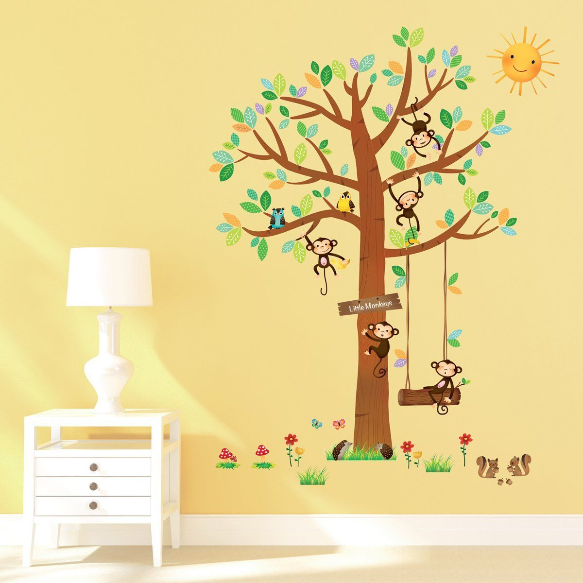 Amazon Wandtattoo Küche Decowall Dm 1401 5 Little Monkeys Baum Peel And Stick