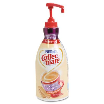 Coffee Mate Liquid Coffee Creamer Sweetened Original 1500ml Pump